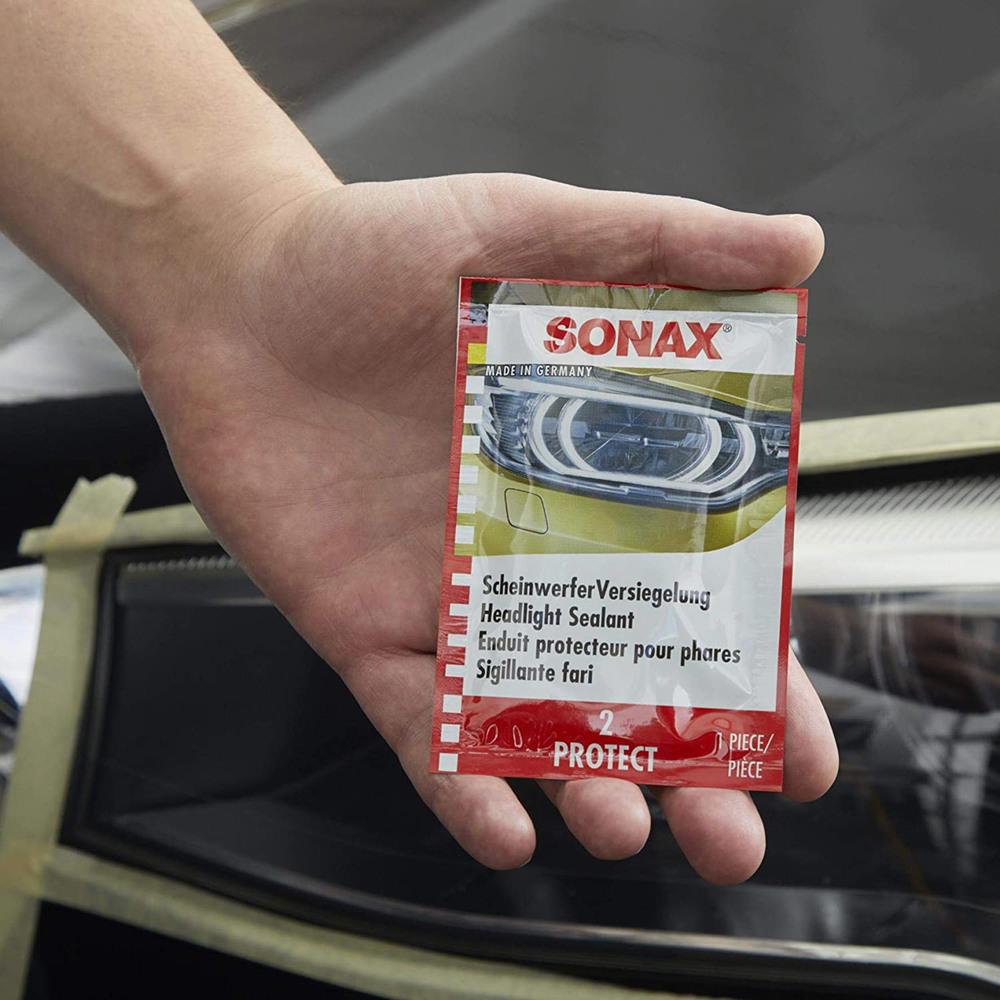 Headlight Restoration Kit By SONAX, Eliminates Headlight Lense Haze And Restores To Clear, Like-New Clarity