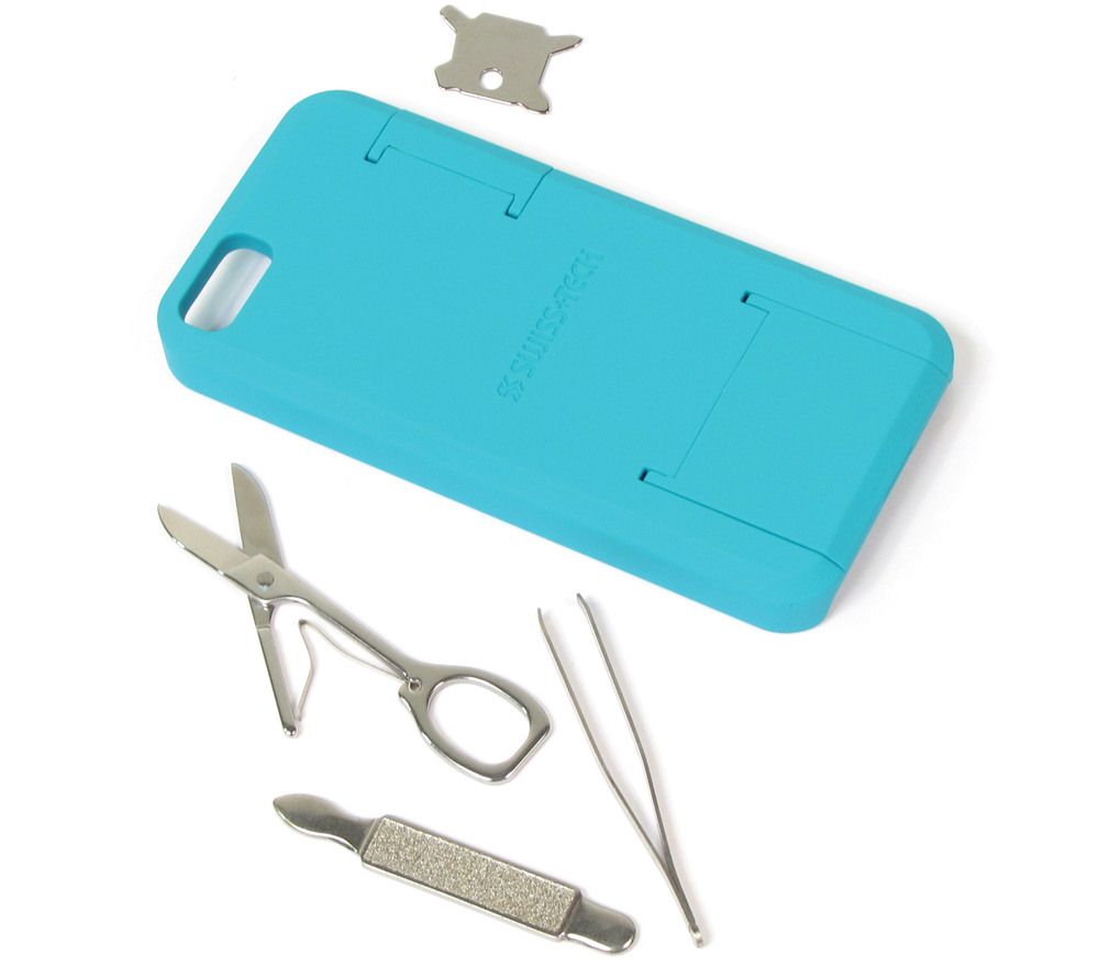 Smartphone Tool Case For iPhone 5 & 5S By Swiss Tech (Teal)