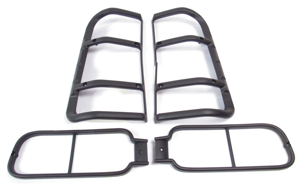 Rear Lamp Guard Set, Composite, For Land Rover Discovery Series II, 1999 - 2002