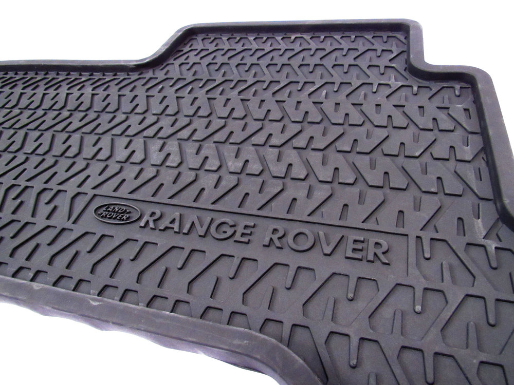Genuine Rubber Floor Mats, 4-Piece Set, Front And Rear, Black, For Range Rover Classic (Short Wheelbase Only)