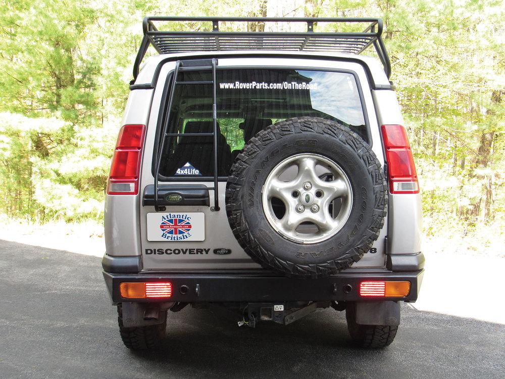 Land Rover roof rack ladder