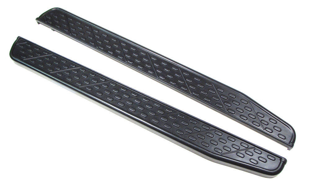 Side Steps Running Boards STC8130AB, Chevron Style Pair, For Land Rover Discovery I And Range Rover Classic