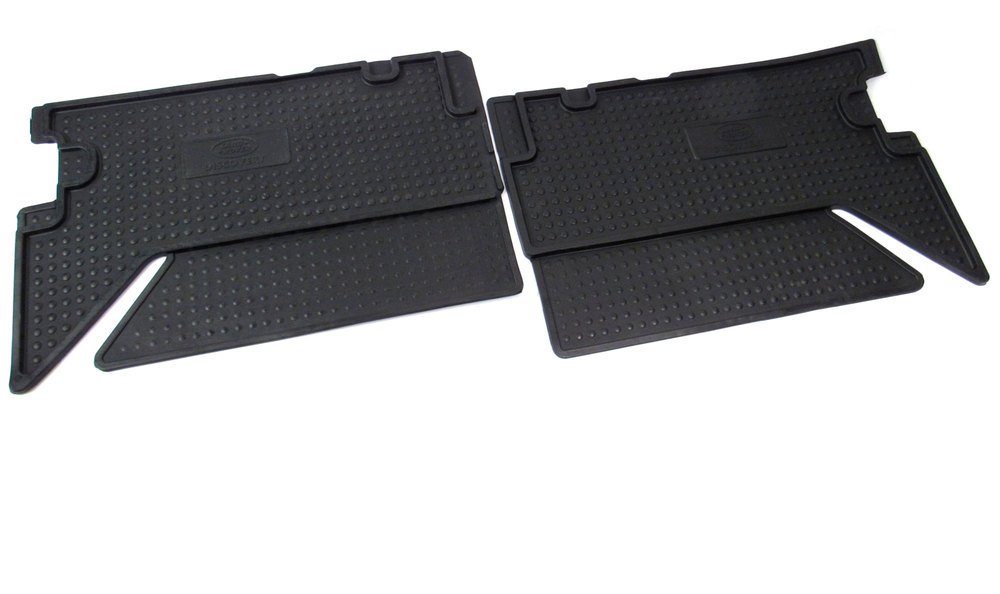 Genuine Black Rubber Floor Mats, Front And Rear, 3-Piece Set, For Land Rover Discovery I