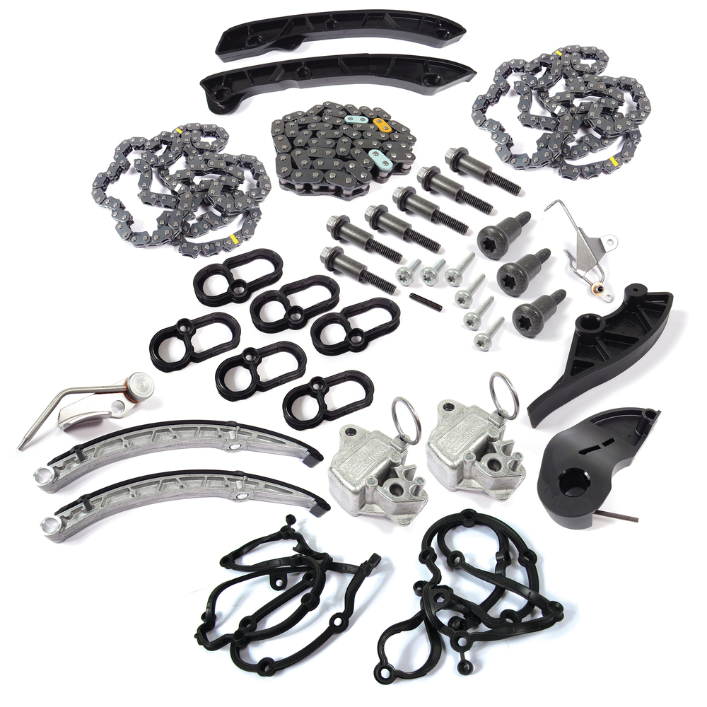 Complete Genuine Timing Chain Replacement Kit, Upper And Lower Chains, Tensioners, Guides, Seals And Hardware, For 3.0L V6 Land Rover LR4, Range Rover Full Size And Range Rover Sport (See Fitment Years)