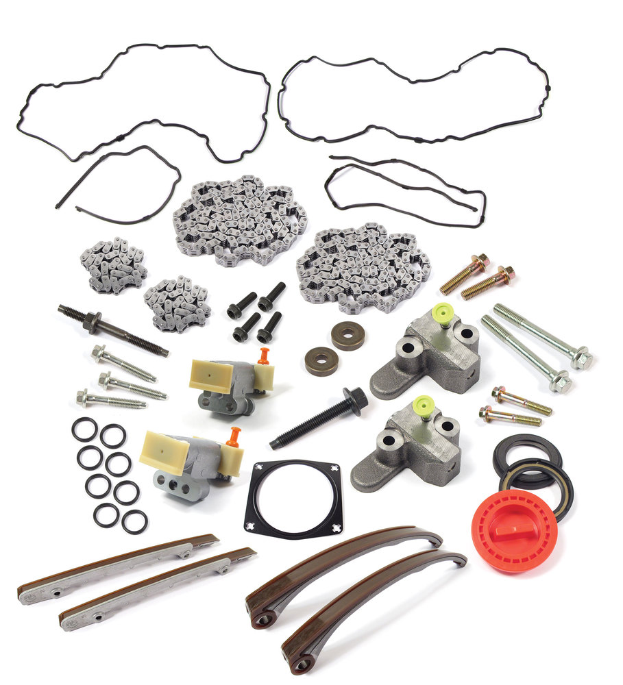Complete Timing Chain Replacement Kit, Includes Upper And Lower Chains, Tensioners, Guides, Seals And Hardware, For V8 4.4. And 4.2L Land Rover LR3, Range Rover Sport And Range Rover Full Size L322