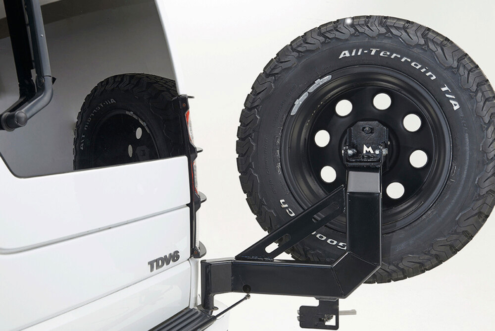 Swing-Away Spare Wheel And Tire Carrier By Terrafirma For Land Rover LR3 And LR4