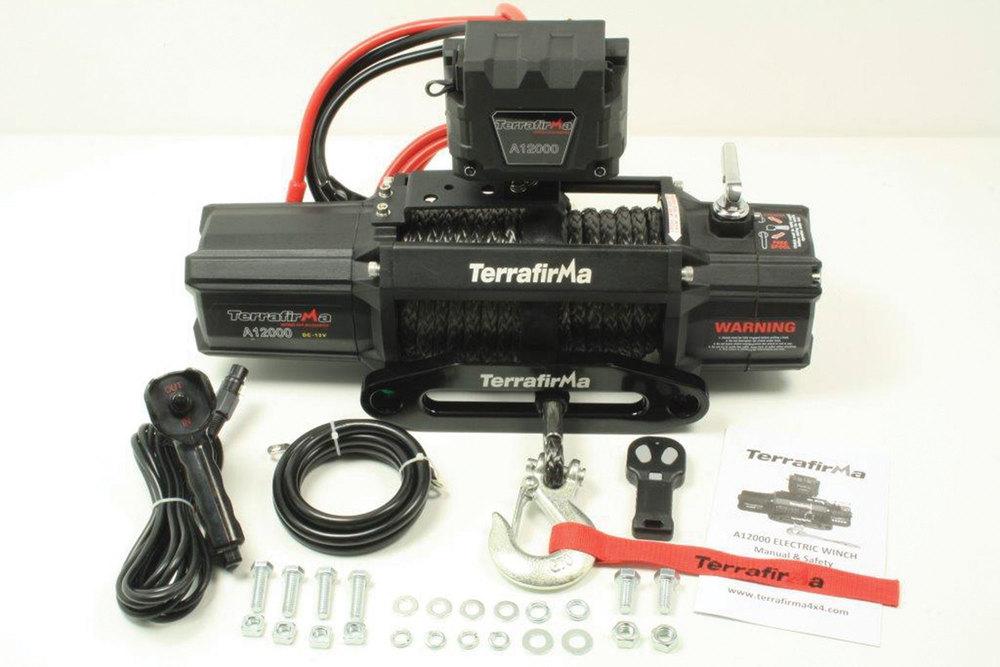 Terrafirma Recovery Winch A12000, 12-Volt, 12,000 Lb. Capacity