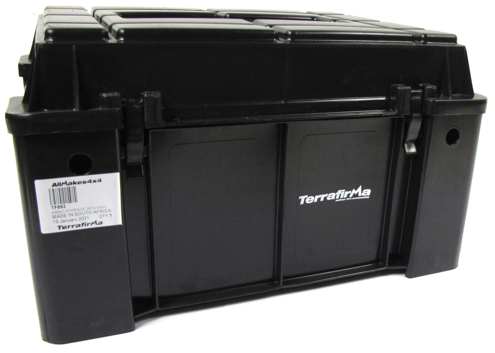 Terrafirma Storage Box, High Lid Style, Stackable Overland Storage, 2,740 Cubic Inch Capacity