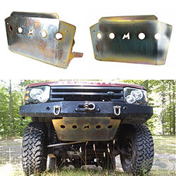 Alloy Steering Guard Skid Plate By Terrafirma, For Land Rover Discovery Series II Vehicles With Steel Winch Bumper