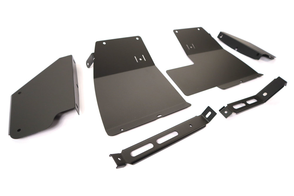 Stainless Steel Mud Flap Brackets, Front And Rear, By Tuff-Rok For Land Rover Discovery Series II