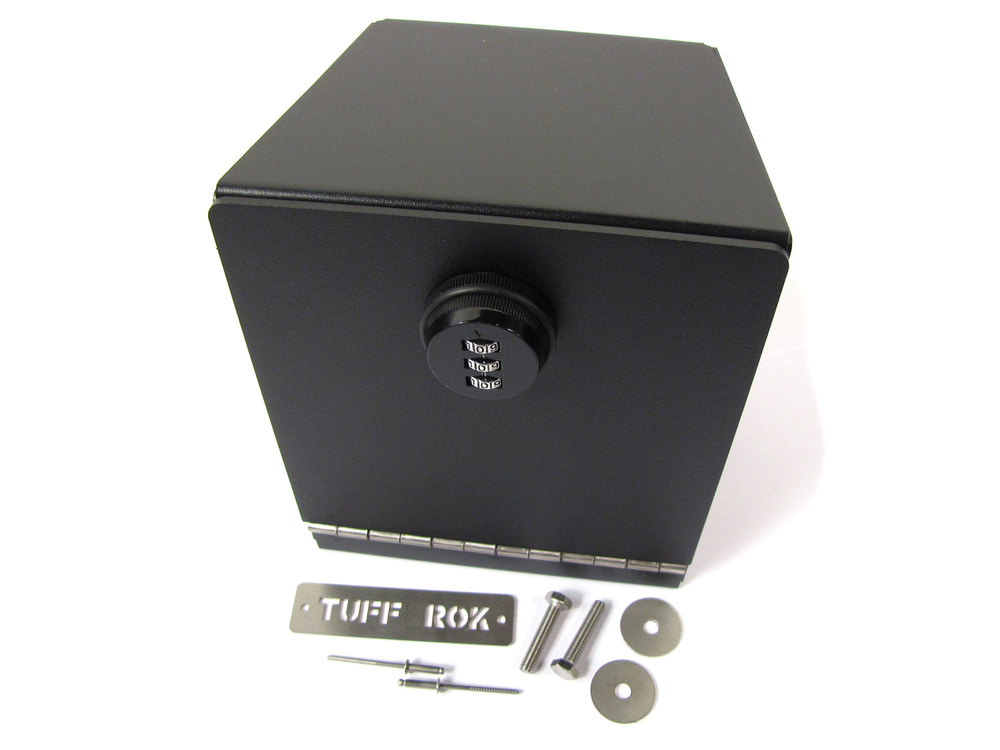 Daytona Black Stainless Steel Cubby Safe By Tuff-Rok For Land Rover Discovery Series II