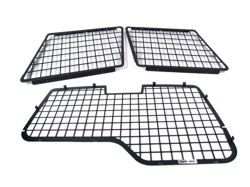 Tuff-Rok Rear Window Interior Guard 3-Piece Set For Land Rover Discovery Series II, Includes Rear Window And Rear Side Quarter Window Interior Security Guards