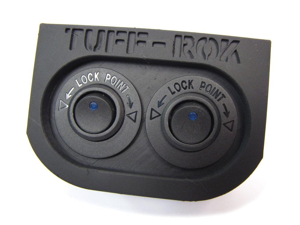 Tuff-Rok Front Power Panel - Blue LED 12V Switches