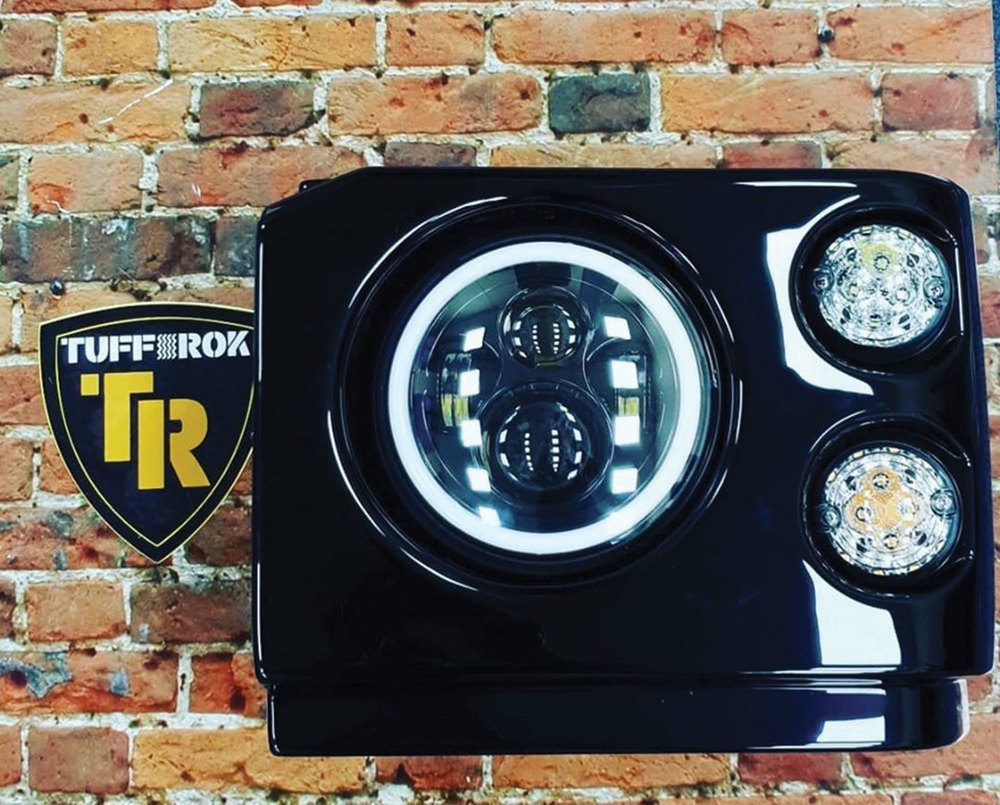 LED Headlight Pods And Lights By Tuff-Rok, Pair, For Land Rover Discovery I