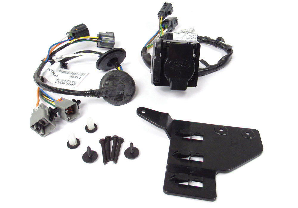 Genuine Trailer Wiring Kit VPLAT0137 For Land Rover LR4 V6 3.0L, 2014 - 2016, Includes Flat-4 And 7-Way Connectors