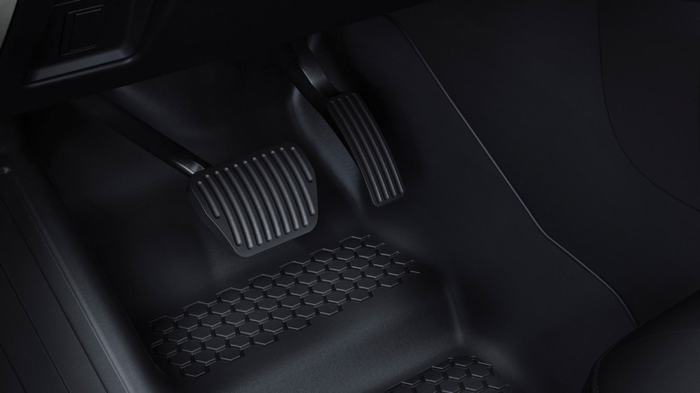 Genuine Synthetic Rubber Floor Mat Set VPLES0552, Front And 2nd Row, Black, For Land Rover Defender 110 New Generation L663 (For Vehicles With 5 Seats)