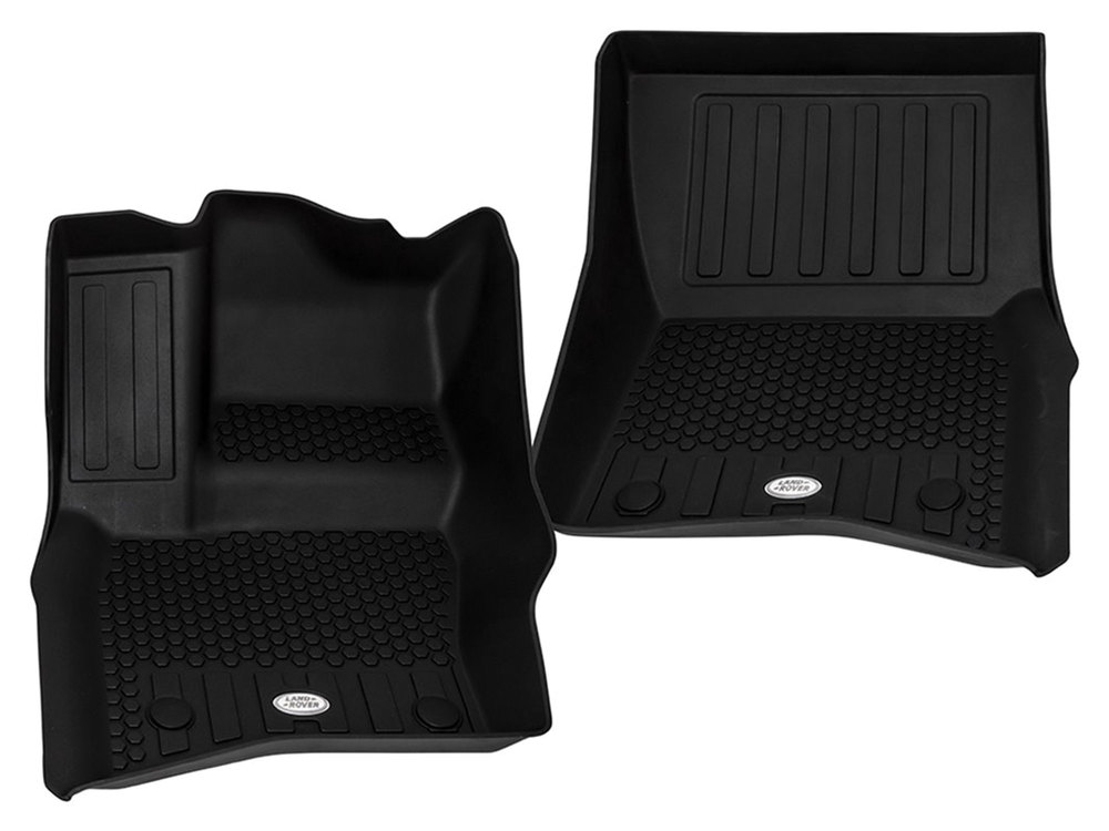 Genuine Synthetic Rubber Floor Mat Set VPLES0553, Front And 2nd Row, Black, For Land Rover Defender 110 New Generation L663 (For Vehicles With 5 + 2 Seats)