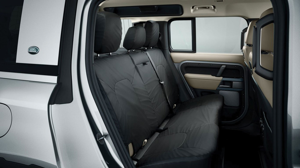 Genuine 2nd Row Seat Covers VPLES0562, Ebony 210D Nylon, 5-Seat Models On Land Rover Defender 110 New Generation L663