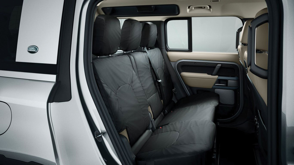 Genuine 2nd Row Seat Covers VPLES0563, Ebony 210D Nylon, 5+2 Seat Models With 3rd Row Double Seat On Land Rover Defender 110 New Generation L663