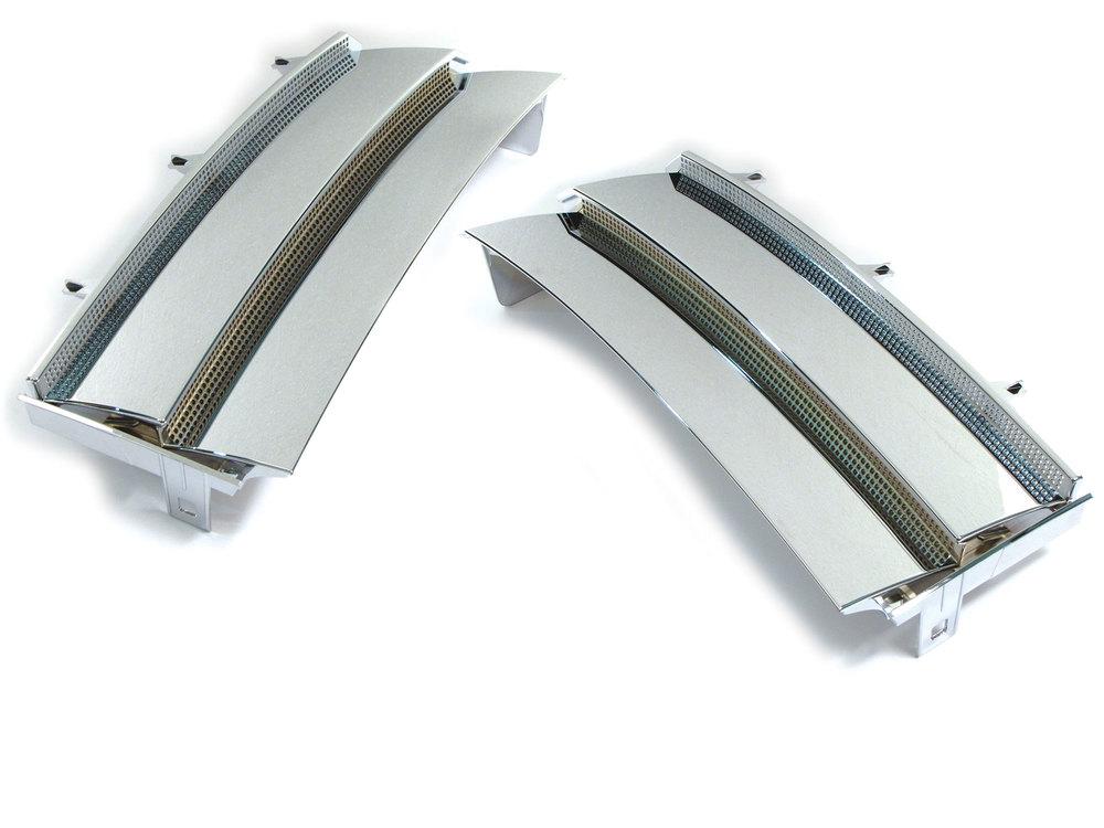 Grille - Side Air Intake - Chrome - Pair