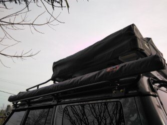 Roof Rack, Overland Package With Rear Ladder, Light And Accessory Mounts, By Voyager Offroad, For Land Rover Discovery Series II