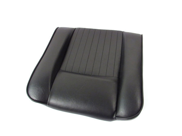 Deluxe Outer Seat Base And Cushion, Black Vinyl With Foam Padding, For Land Rover Series