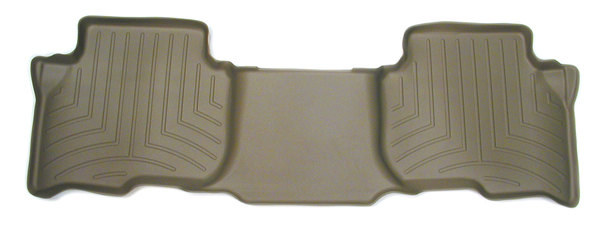 Floorliner Molded Mat By WeatherTech, Tan, 2nd Row Rear Seat, For Land Rover LR3, LR4 And Range Rover Sport (See Fitment Years)