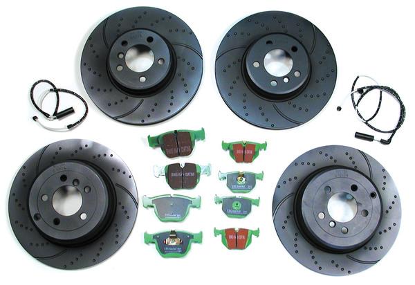 EBC Performance Brake Rebuild Kit: Front & Rear For Range Rover 4.4 L322