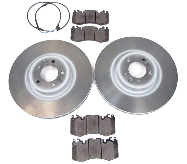 Front Brake Rebuilding Kit, Includes Genuine Pads, Genuine Rotors, And Replacement Wear Sensor, For Range Rover Sport Supercharged, 2010 - 2013