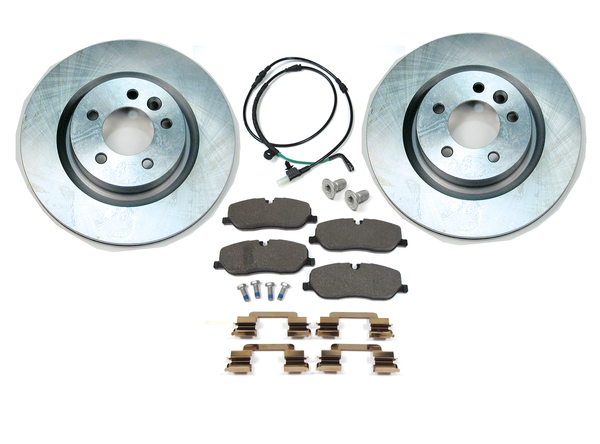 Front Brake Rebuilding Kit For Land Rover LR3 V8, Includes Genuine Pads, Standard Rotors, Brake Wear Sensor And Pins With Clips