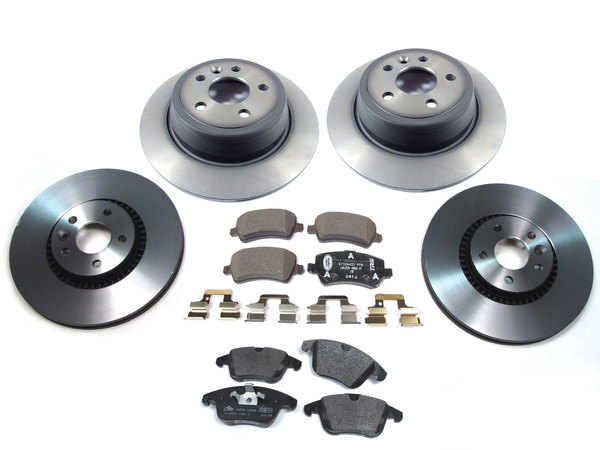 Genuine Brake Rebuild Kit, Front And Rear, Includes Genuine Brake Pads And Rotors, For Land Rover LR2