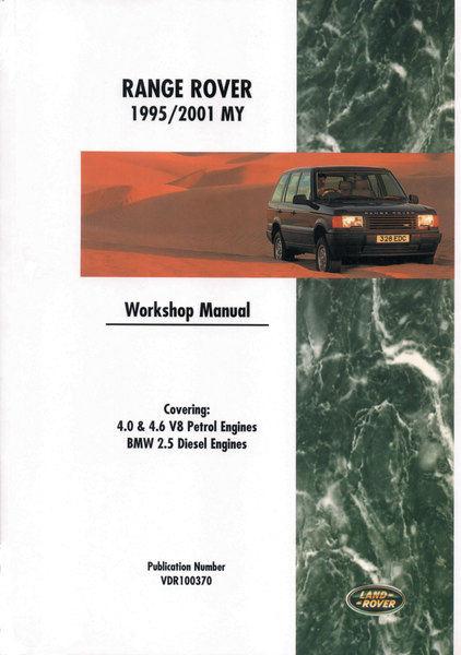 Workshop Manual By Bentley For Range Rover P38, 1995 - 2001