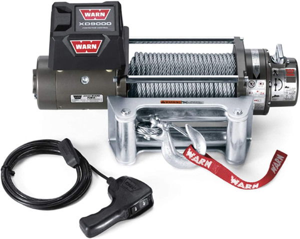 Warn Winch XD9000: Fits ARB Bull Bar Bumpers (9,000 Lb. Capacity)