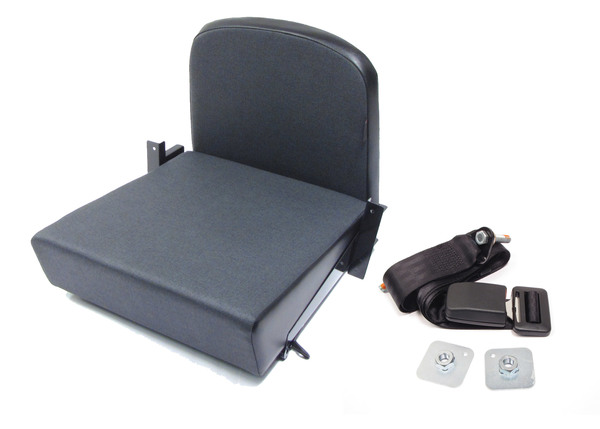Trakker Rear Jump Seat By Exmoor Trim, Twill Vinyl, For Land Rover Defender And Series 2, 2A And 3