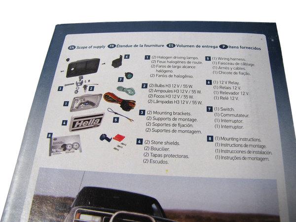 Hella 550 Driving Lamp Kit (Clear)
