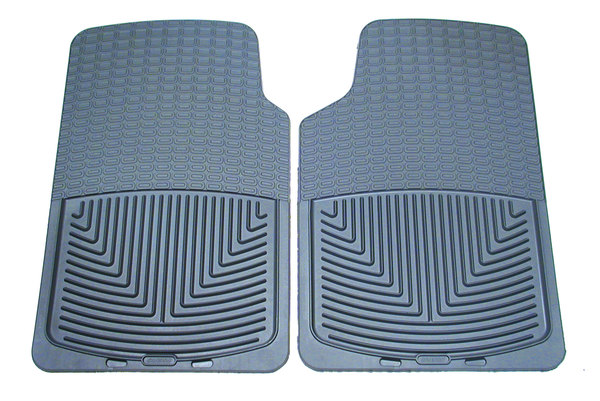 WeatherTech Classic Premium Rubber Floor Mats, Front Pair Set, Grey, For Land Rover Discovery 1, Discovery Series 2, Range Rover P38 And Range Rover Classic