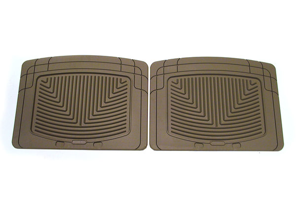 WeatherTech Classic Premium Rubber Floor Mat, Rear Footwell, Tan, For Land Rovers And Range Rovers (See Fitments)