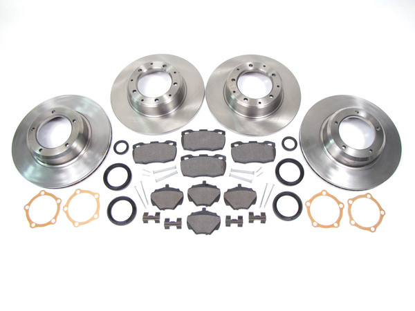 brake kit - rotors, pads, hardware