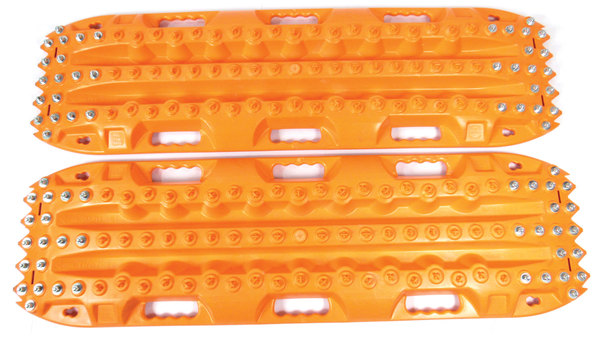 ActionTrax Off-Road Vehicle Recovery Boards And Track System With Steel Grips, Orange, Pair