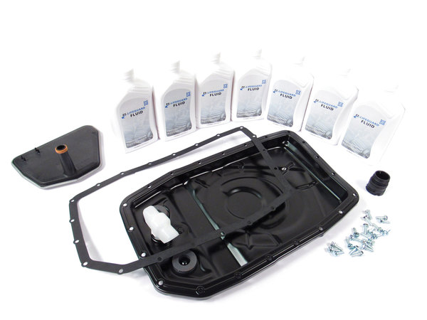 Transmission Filter Service Kit: Conversion Upgrade With Replacement Filter, Pan, ZF Lifeguard Fluid And Easier Installation Process, For Land Rover LR3, LR4, Range Rover Full Size And Range Rover Sport
