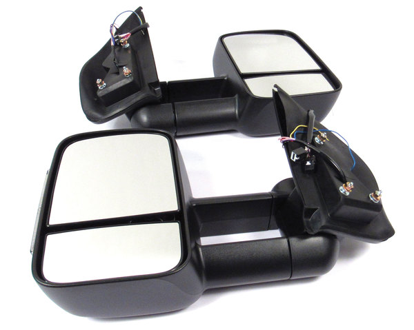 Clearview heated towing mirrors product shot top view with integrated indicators