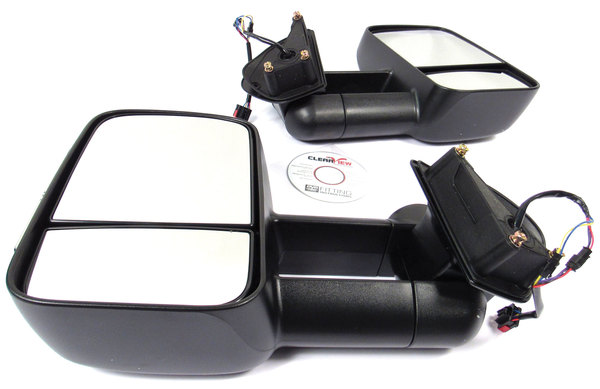 Clearview towing mirrors with integrated indicators for Land Rover and Range Rover product shot top view