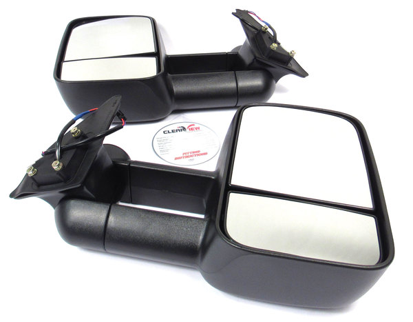 Clearview towing mirrors product shot top view