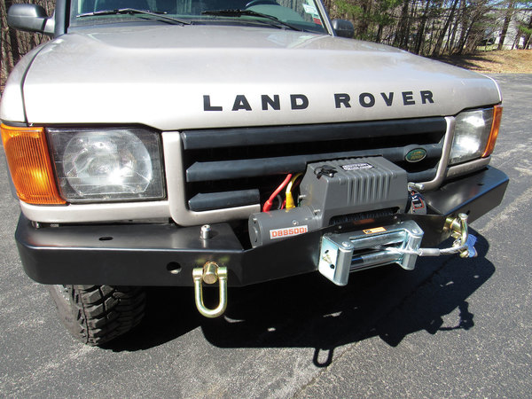 front bumper winch combo on Discovery Series II