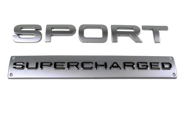 Sport Super Charged Back Door Emblem Silver