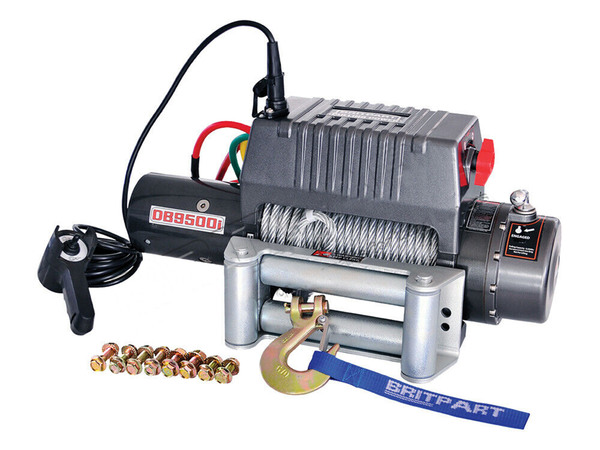 Offroad Recovery Winch By Britpart Pulling Power, 9,500 Lbs. Capacity, 12-Volt