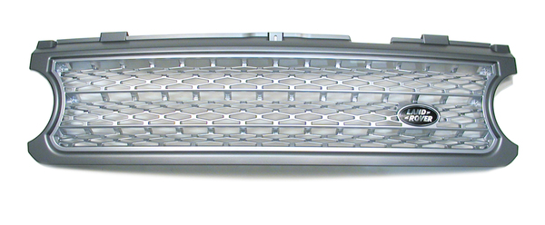 Genuine Front Grille, Supercharged Style, Brunel Metallic, For Range Rover Full Size L322, 2006 - 2009