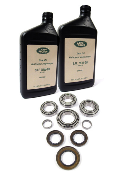 Rear Differential Overhaul And Repair Kit, Non-Locking Type, Includes Replacement Bearings, Oil Seals And Fluid, For Land Rover LR3, LR4 And Range Rover Sport