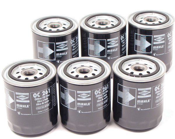 Mahle Oil Filter, Short, Set Of 6, For Land Rover Discovery 1 And 2, Range Rover Classic, Range Rover P38 And Defender