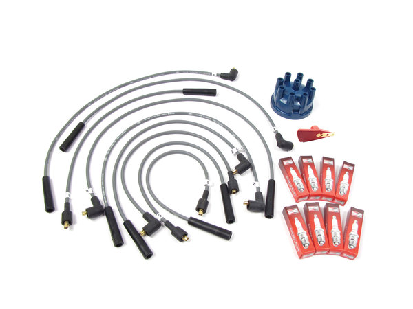 Ignition Wire, Spark Plug, And Distributor Cap Service Kit For Land Rover Defender 90 And 110, And Range Rover Classic